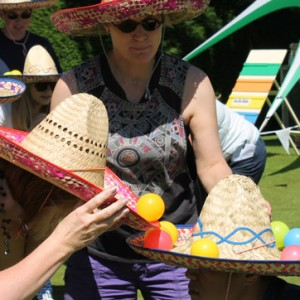 team building events - sombrero game