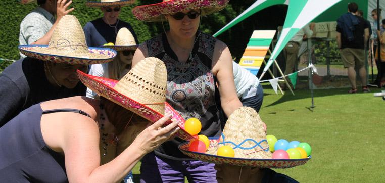 team building events - sombrero game