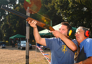 Activity days - laser clay pigeon shooting