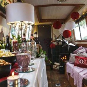Narrow boat Christmas party venue