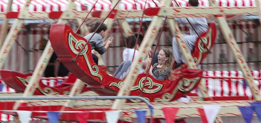 Indoor family fun days - fairground ride